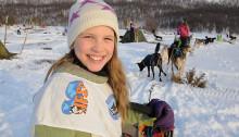 Amely Lo Innauen er bare 9 år gammel, men allerede en rutinert hundekjører.