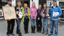 Klassevinnere i Seppalaløpet 2014: Børge Sagstad, Stein Grøndalen, Gørild Thue, Eira Aasebye, Kristin Aasheim, Solveig Aasebye og Fredrik Westlie.
