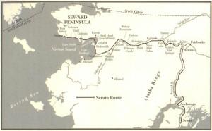Stafetten fra Nenana til Nome var 1.085 km lang, og ble gjort unna på på 127 timer og 30 minutter, tildels under forferdelige værforhold. Noen av hundene som deltok, frøs i hjel i løpet av turen. Seppala og hundene tilbakela 420 kilometer, fra Nome til Shaktoolik og tilbake til Golovin, og kjørte serumet tilsammen 146 kilometer, nesten dobbelt så langt som noen av de andre hundespannene. (Klikk på kartet)